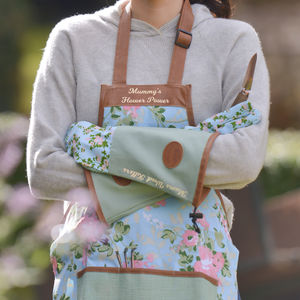 Personalised Gardening Apron And Gloves - gloves