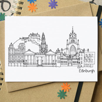 Edinburgh Landmarks Greeting Card