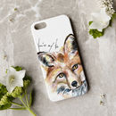 Inky Fox Phone Case With Optional Personalised Message