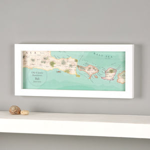 Personalised Bali Treasured Map Location Print - posters & prints