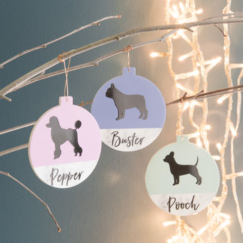 Personalised Pet Contrast Christmas Tree Decoration