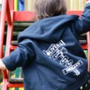 Personalised Highway Kids Zip Up Hoodie