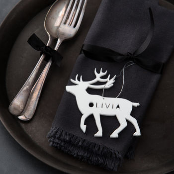 Personalised Reindeer Place Setting