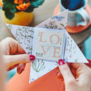 Plantable Valentine's Day Card Inside Origami Envelope