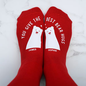 Personalised Best Bear Hugs Socks - valentine's gifts for her