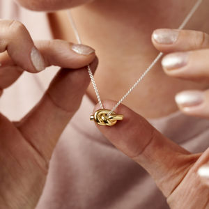 Silver Knot Necklace - friendship jewellery