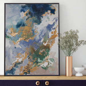 'Marino Stone' Framed Giclée Abstract Canvas Print Art - posters & prints