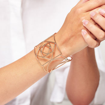 Geometric Shapes Cuff