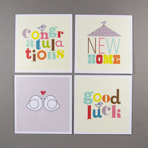 Four Assorted Occasions Cards