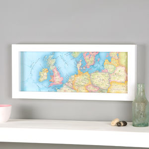 British Isles And Europe Hand Drawn Map Location Print - non-personalised