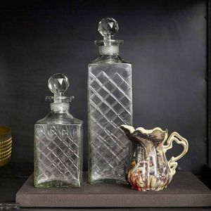 Harlequin Glass Decanter