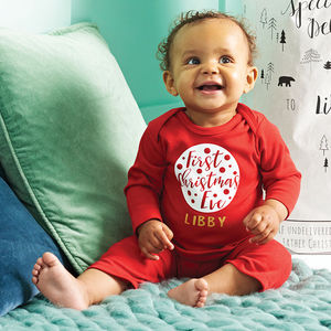 Personalised First Christmas Eve Romper - christmas catalogue