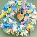 Spring Easter Wreath Making Kit Reusable Fabric Wreath