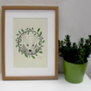 'Badger And Oak' A Two Colour Screen Print