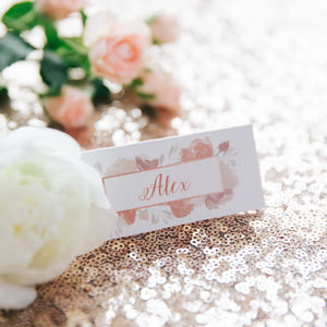 'Pink Rose' Place Cards - place cards