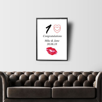 One Love Personalised Wall Print