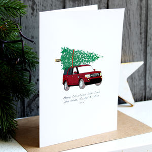 Your Car Christmas Card Personalised - christmas card packs