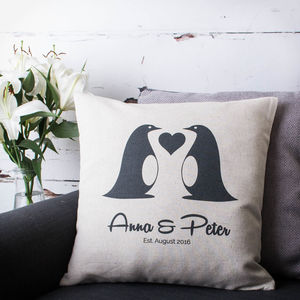 Love Penguins Cushion Cover - cushions