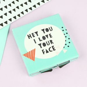 'I Love Your Face' Compact Mirror