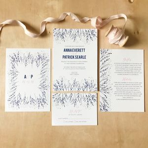 Delicate Floral Wedding Invitations
