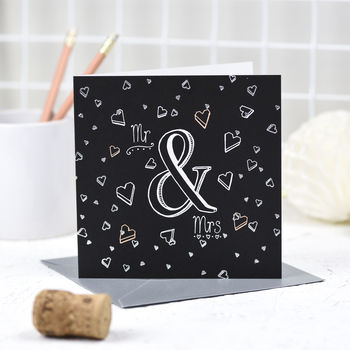 'Mr And Mrs' Card