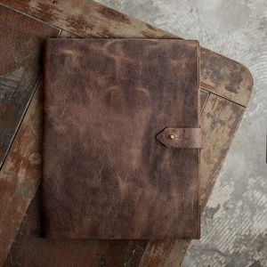 Personalised A4 Vintaged Leather Writing Pad