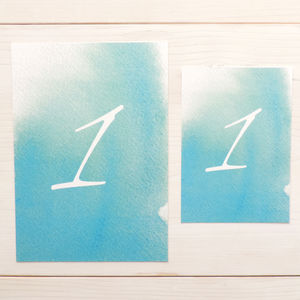 'Love Haze' Watercolour Table Number - table decorations
