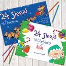 Personalised Christmas Advent Book And Pencils