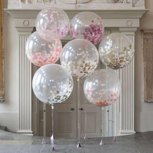 Giant Heart Confetti Filled Balloons - room decorations