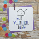 Personalised 'Welcome Home' Greeting Card