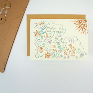Greeting Card Birthday Sunshine