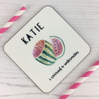 Personalised Watermelon Coaster