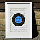 Personalised Music Score Old Record Print