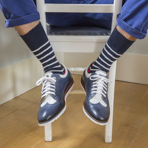 Breton Stripe Chunky Sock - underwear & socks