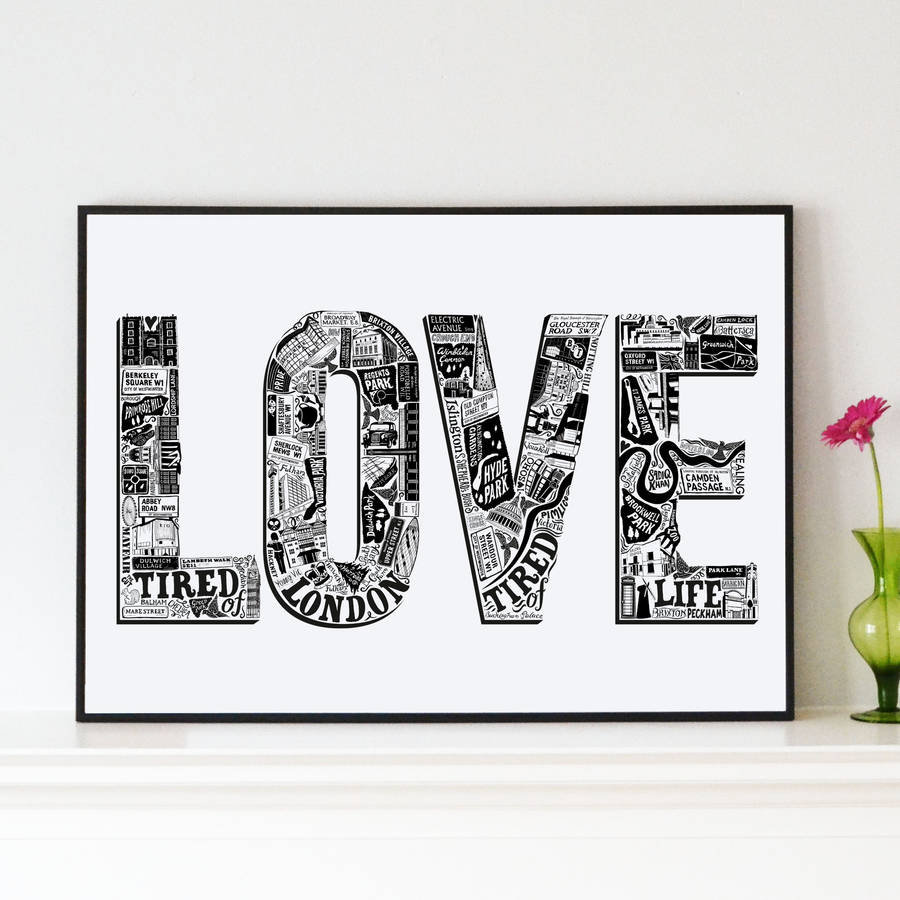 Love London Print By Lucy Loves This