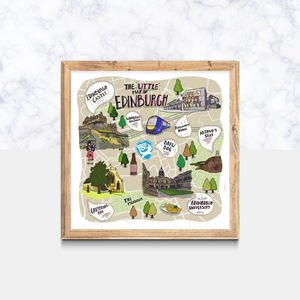 The 'Little Map Of Edinburgh' Illustrated Print - maps & locations
