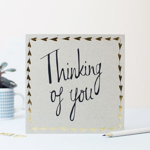 Thinking Of You Gold Hearts Card - shop by category