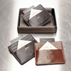 Personalised Leather Groomsman's Gift Card Holder - new birthday gifts