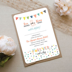 Festival Wedding Invitation - invitations