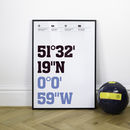 West Ham Football Stadium Coordinates Posters