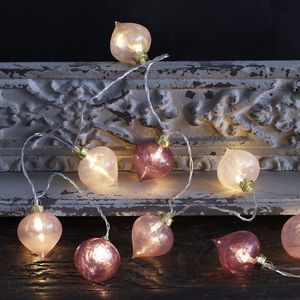 Pink Moroccan Glass Fairy Lights - fairy lights & string lights
