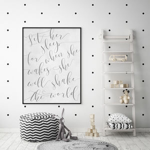 'Let Her Sleep' Nursery Print - new in home