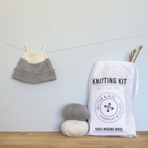 Snowball Beanie Knitting Kit - new lines added
