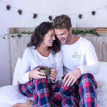 Personalised Together Since Couples Pyjamas