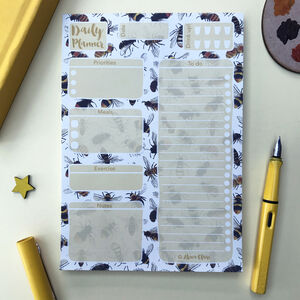 Bees Daily Planner Notepad