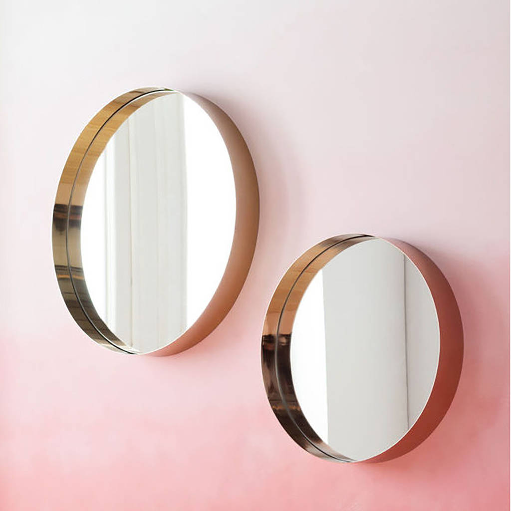 Adele round copper or brass mirror by i love retro for Round mirror