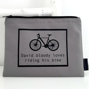 Personalised Bike Washbag