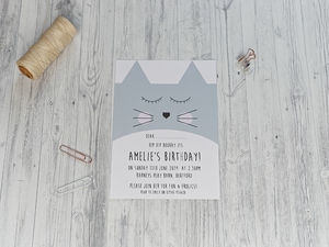Cute Cat Party Invitation - invitations