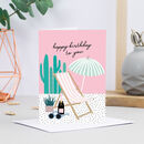 Birthday Deckchair Card