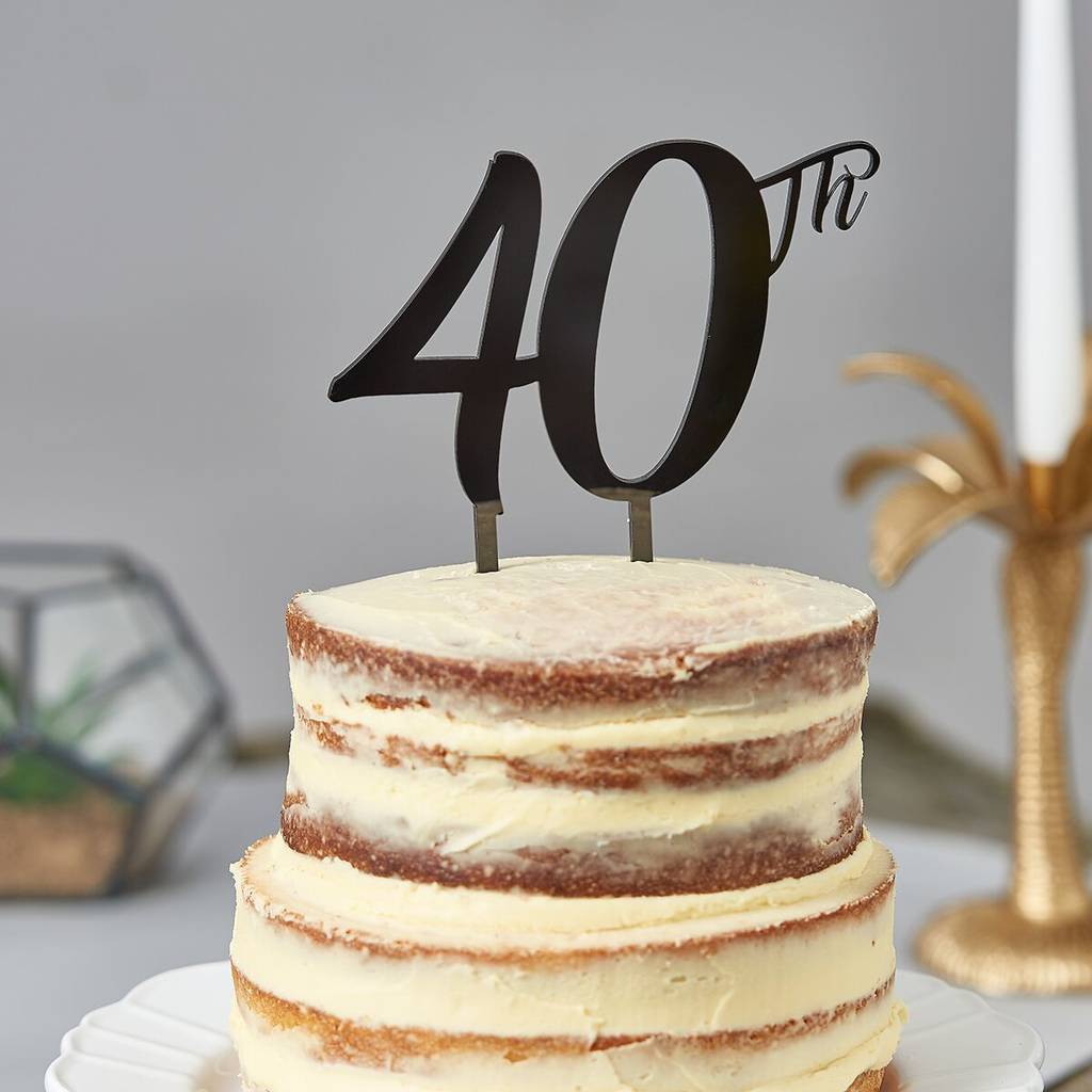40th birthday cake topper by suzy q designs ...